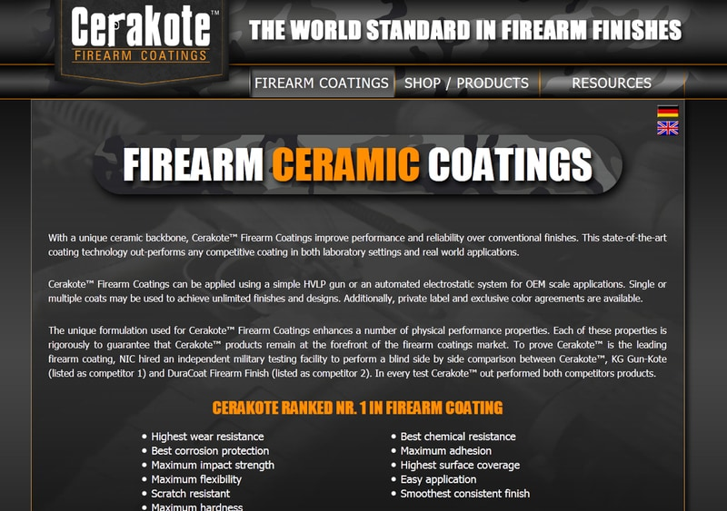 European Cerakote Distributor Launches New Website