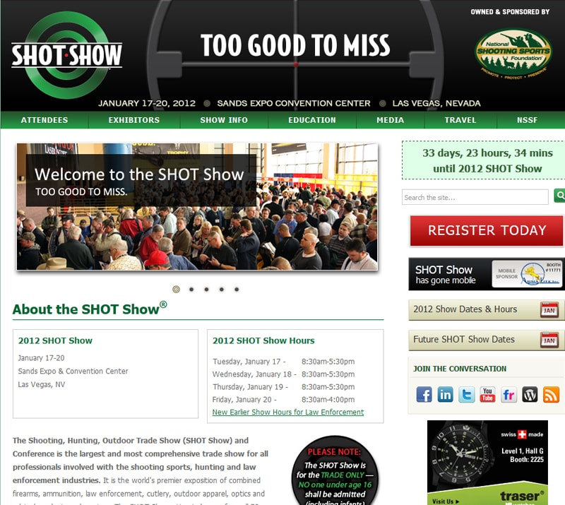 Cerakote™ Firearm Coatings will attend the 2012 SHOT Show January 17-20th.
