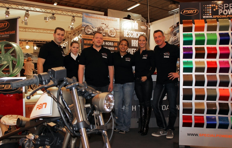 Cerakote Ceramic Coatings and Prismatic Powders on Display at 2013 Custombike Show