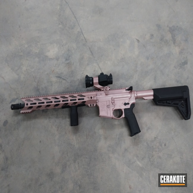 Cerakoted: S.H.O.T,Graphite Black H-146,Anderson,.223,ROSE GOLD H-327,Semi-Auto,AR-15