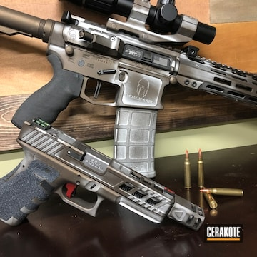 Battleworn Cerakote Ar-15 And Glock