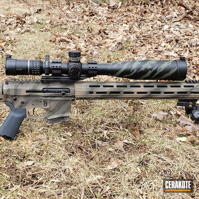 Cerakoted: S.H.O.T,Sniper Grey H-234,Vietnam Tiger Stripe Camo,Tiger Stripes,MAGPUL® STEALTH GREY H-188,MAGPUL® FLAT DARK EARTH H-267,224 Valkyrie,Tactical Rifle,MAGPUL® O.D. GREEN H-232