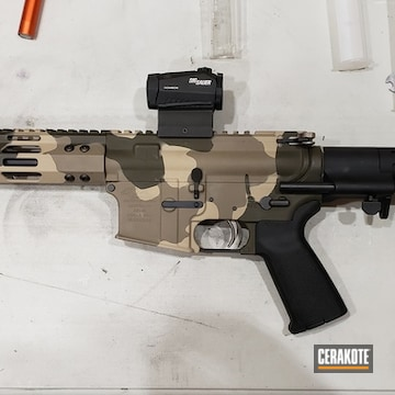 Cerakoted 300 Blackout Rifle In H-235, H-267 And C-211