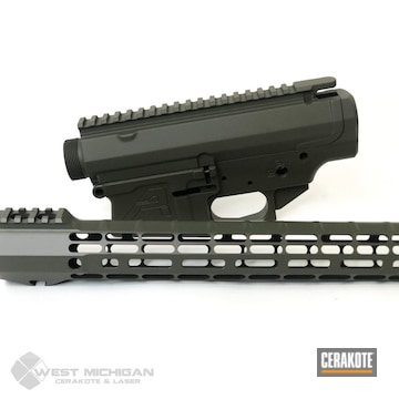 Cerakoted Aero Precision Ar Parts In H-236