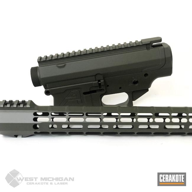 Cerakoted: S.H.O.T,Aero Precision,Firearm,Gun Parts,O.D. Green H-236,Guns,Firearms