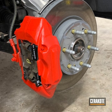 Cerakoted Chevy Brake Calipers In C-143