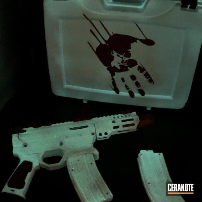 Cerakoted: Snow White H-136,Crimson H-221,.22LR,22lr,Custom Pistol
