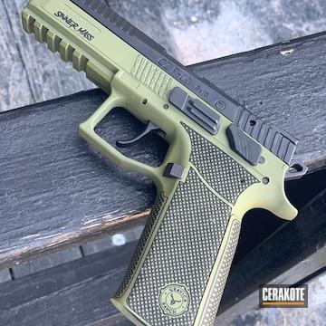Cerakoted Green Cz P-09 Handgun