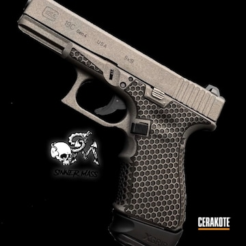 Cerakoted Laser Stippled Glock 19c In H-237