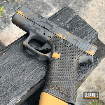 Cerakoted Stippled Glock 43x In H-122, H-234 And H-146