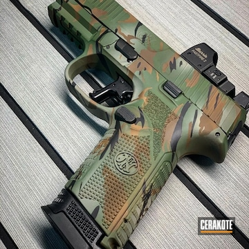 Cerakoted Woodland Tiger Stripe Multicam Fn 509 Handgun