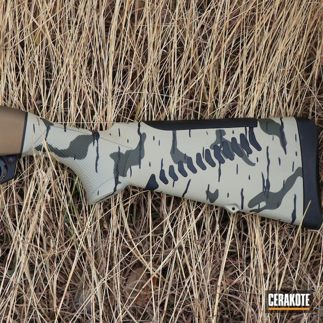 Cerakoted: S.H.O.T,Hunting,Desert Sage H-247,Shotgun,Shotguns,Graphite Black H-146,Burnt Bronze H-148,Camo,Benelli,O.D. Green H-236