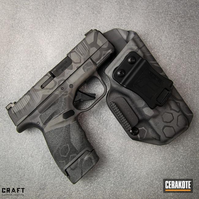 Cerakoted: S.H.O.T,Titanium E-250,Kryptek,Springfield Armory,Hellcat,CARBON GREY E-240,Handgun