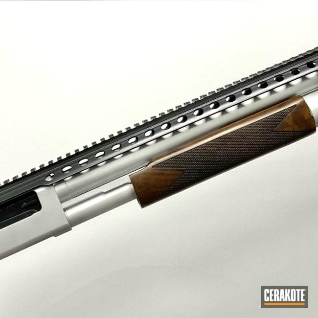 Cerakoted: S.H.O.T,Shotgun,BLACKOUT E-100,Shockwave,Satin Aluminum H-151,12 Gauge,Smoke E-120,Mossberg