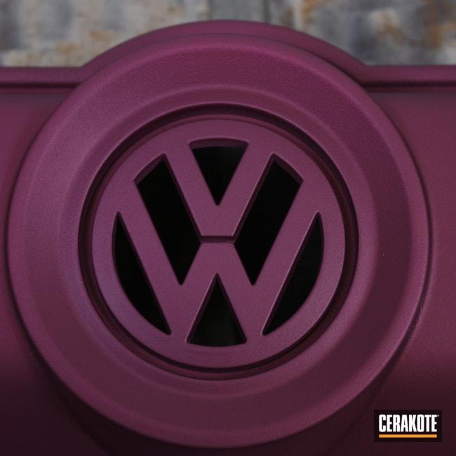 Cerakoted: Engine Cover,Car,BLACK CHERRY H-319,VW Bug,Automotive