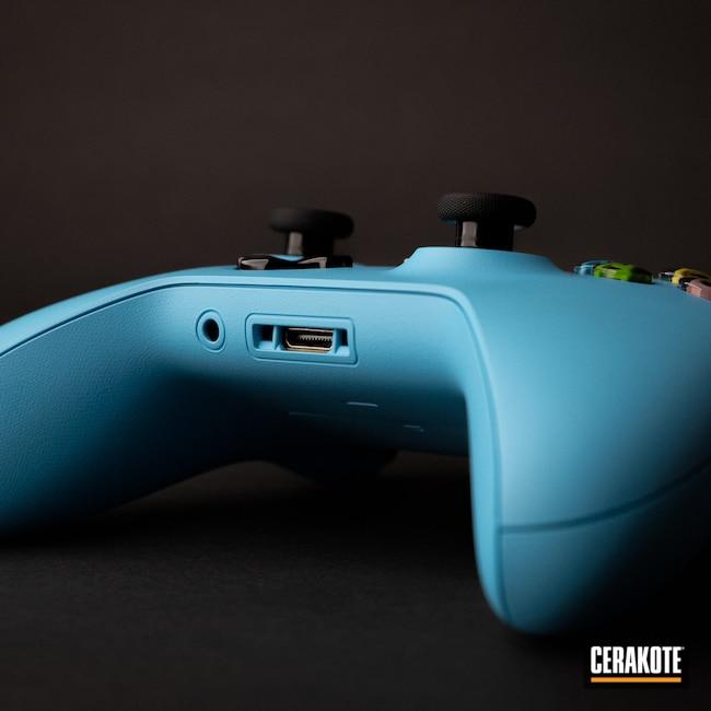 Cerakoted: Xbox,Custom X Box Controller,Xbox Controller,controller,Technology,Electronics,BLUE RASPBERRY H-329,Gaming