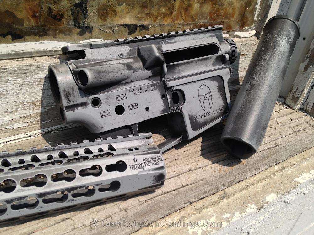 Cerakoted: Sniper Grey H-234,Armor Black H-190,Gun Parts,Noveske,Sniper Grey