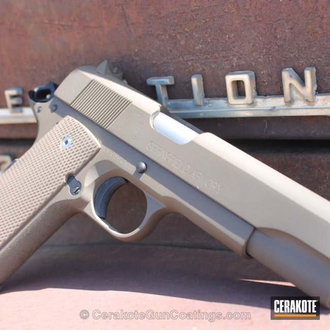 Cerakoted: Graphite Black H-146,Patriot Brown H-226,Springfield Armory,1911,Flat Dark Earth H-265