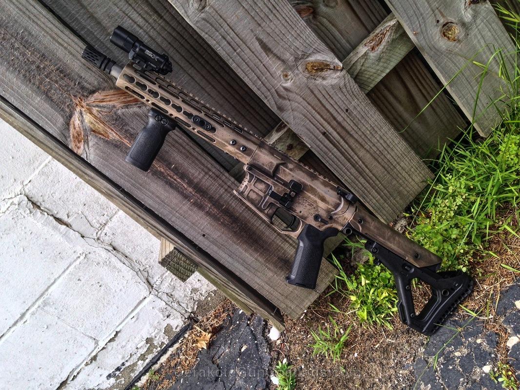 Cerakoted: Battleworn,AXTS,Desert Sand H-199,Patriot Brown H-226,Armor Black H-190,Tactical Rifle,Noveske