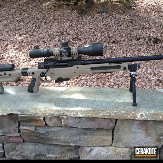 Cerakoted: Bolt Action Rifle,Stock Skins,Gen II Flat Dark Earth HIR-265,Spuhr Mount,Flat Dark Earth H-265,Stock