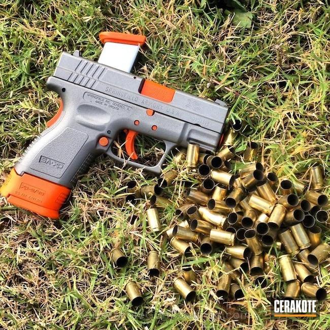 Cerakoted: Satin Mag H-147,Springfield Armory,Safety Orange H-243,Handguns