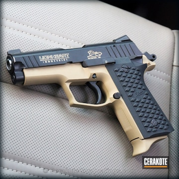 Cerakoted H-146 Graphite Black With H-235 Coyote Tan