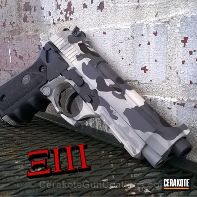 Cerakoted: Hidden White H-242,Cerakote,Urban,Graphite Black H-146,Beretta,Handguns,Snow