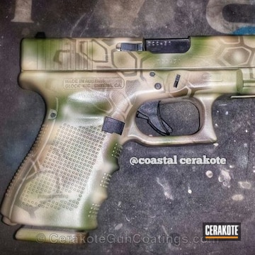 Cerakoted H-199 Desert Sand With H-226 Patriot Brown And H-232 Magpul O.d. Green