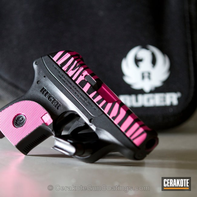Big version of the 1st project picture. Graphite Black H-146Q, Ruger, Ladies, Prison Pink H-141Q