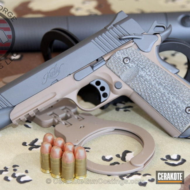 Big version of the 1st project picture. Sniper Grey, Kimber, 1911, MagPul Flat Dark Earth H-267Q, Sniper Grey H-234Q