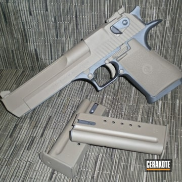 Cerakoted H-235 Coyote Tan With H-262 Stone Grey