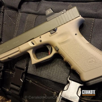 Cerakoted H-146 Graphite Black With H-267 Magpul Flat Dark Earth And H-232 Magpul O.d. Green