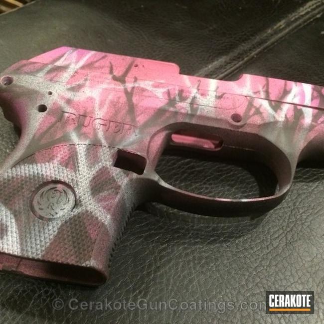 Cerakoted: Bright White H-140,Ruger,Armor Black H-190,Prison Pink H-141,Ladies