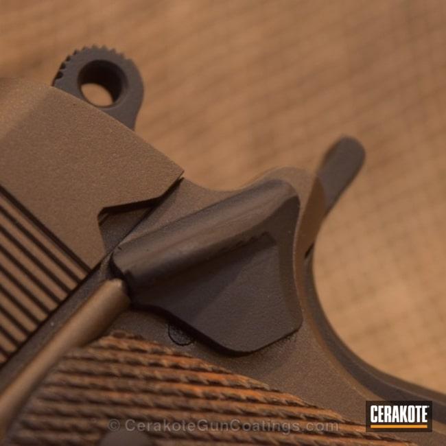 Cerakoted: Colt,Burnt Bronze H-148,Armor Black H-190,1911,Chocolate Brown H-258