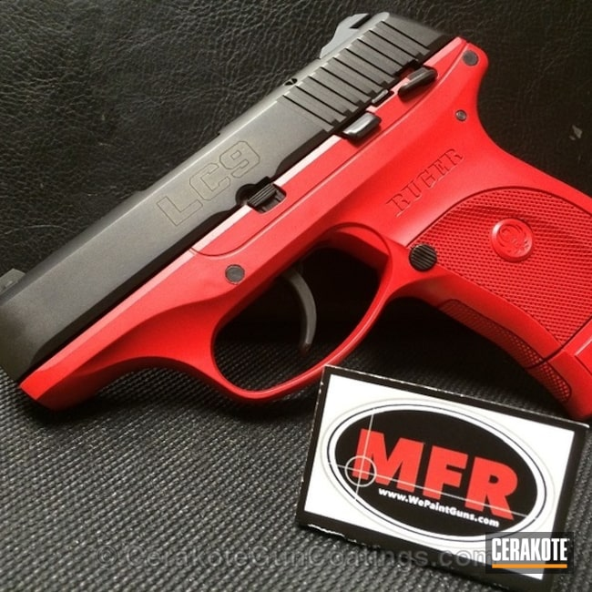 Mobile-friendly version of the 1st project picture. Ruger, Handgun, USMC Red H-167Q