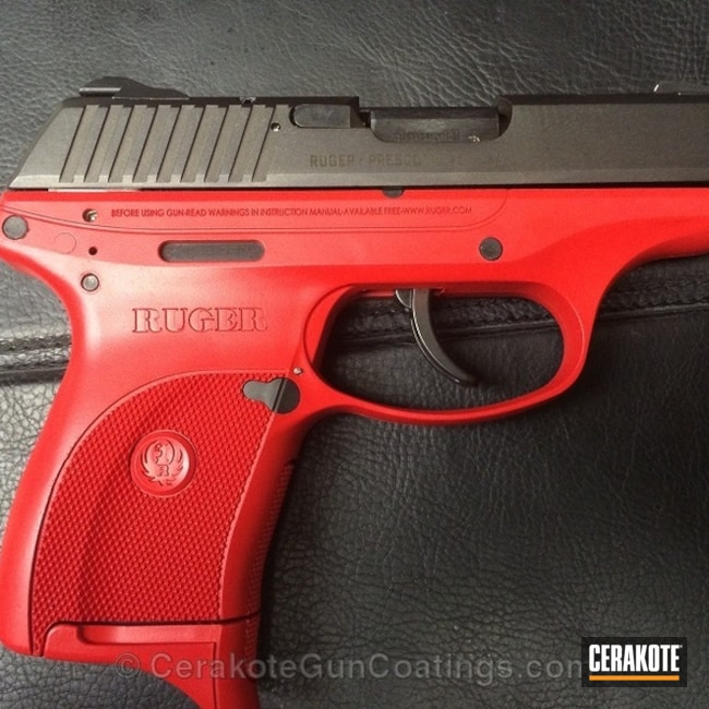 Mobile-friendly version of the 3rd project picture. Ruger, Handgun, USMC Red H-167Q