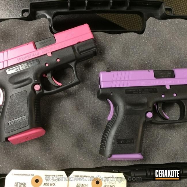 Cerakoted: Bright White H-140,Bright Purple H-217,Springfield Armory,Prison Pink H-141,Ladies