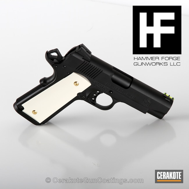 Smaller version of the 1st project picture. Graphite Black H-146Q, Springfield, 1911