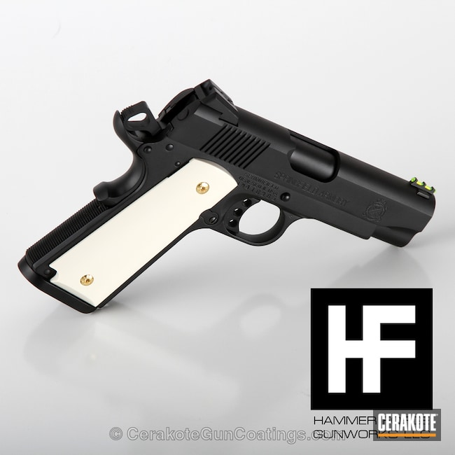 Smaller version of the 2nd project picture. Graphite Black H-146Q, Springfield, 1911