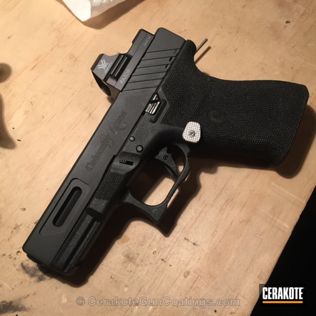 Cerakoted: Graphite Black H-146,Handguns,Blue Titanium H-185