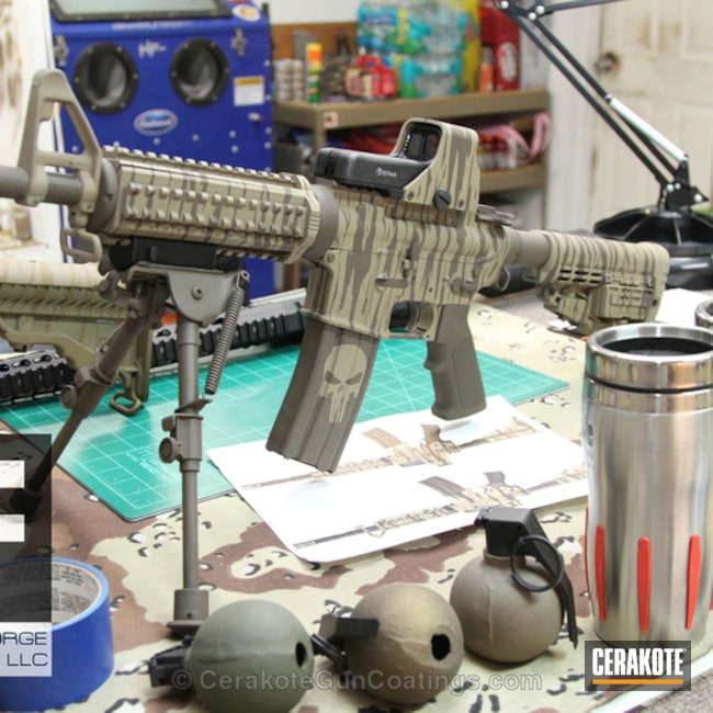 Cerakoted: Coyote Tan H-235,Colt,Patriot Brown H-226,Tactical Rifle