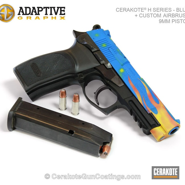 "Thumbnail image for project ""H-171 NRA Blue with H-216 Smith & Wesson Red and H-166 Electric Yellow"""