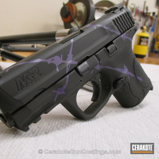 Thumbnail version of the 2nd project picture. Graphite Black H-146Q, Smith & Wesson, Handgun, Bright Purple H-217Q