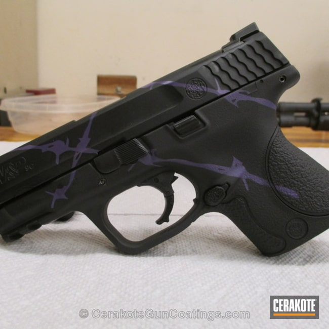 Thumbnail version of the 4th project picture. Graphite Black H-146Q, Smith & Wesson, Handgun, Bright Purple H-217Q
