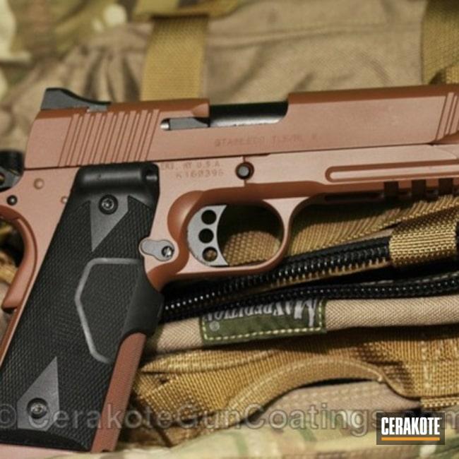 Cerakoted: Graphite Black H-146,Kimber,Federal Brown H-212,1911,Handguns
