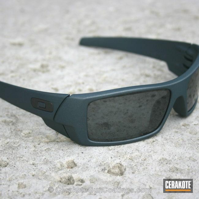 Cerakoted: Sunglasses,OC Custom,Oakley,Frames,Destroyer Grey,Blue Titanium H-185