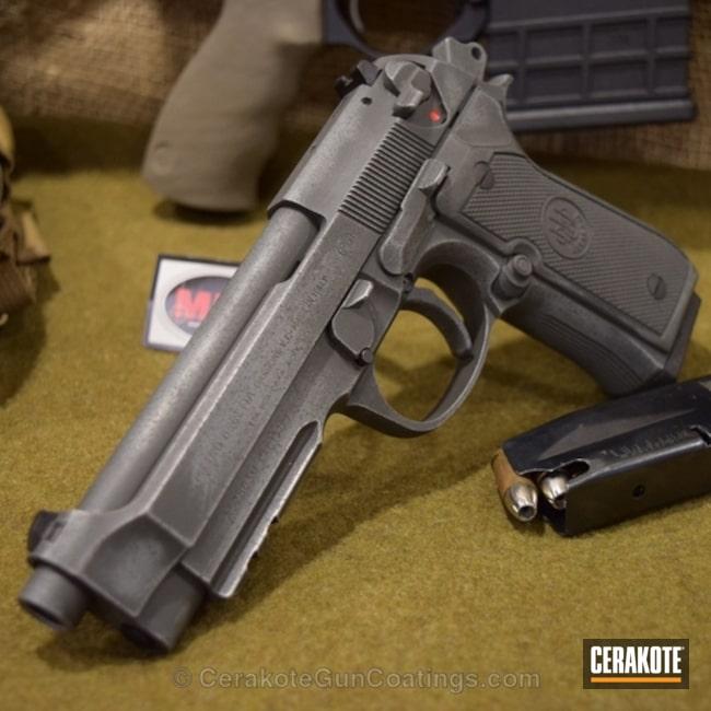 Cerakoted: Cerakote,Smith's Grey,SMITH & WESSON® GREY H-214,Satin Aluminum H-151,Beretta,SIG™ DARK GREY H-210,Handguns