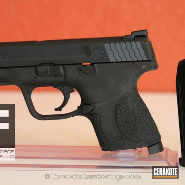 Cerakoted: Frame,Graphite Black H-146,Smith & Wesson,Stippled,Handguns