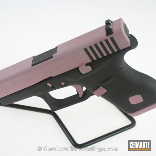 H-146 Graphite Black with H-244 Bright Pink