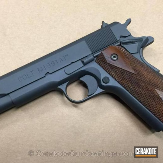 Cerakoted: Socom Blue H-245,Colt,Handguns